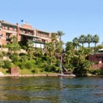 Favourite writing spot: The Old Cataract Hotel on the Nile, Egypt